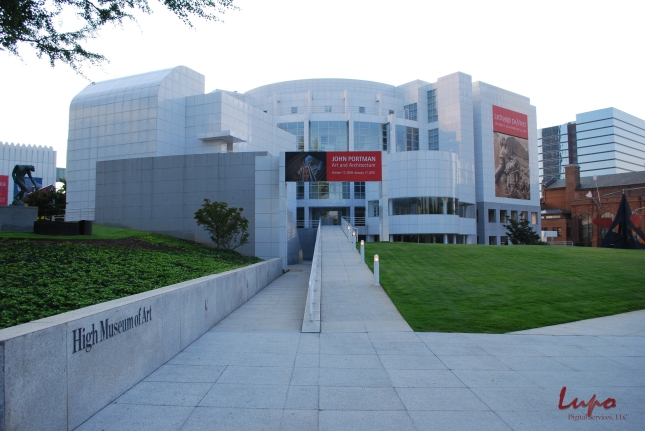 High Museum of Art, Peachtree Street, Atlanta, GA. Taken 4 September 2009, with a Nikon D60 DSLR. Original image, unedited.