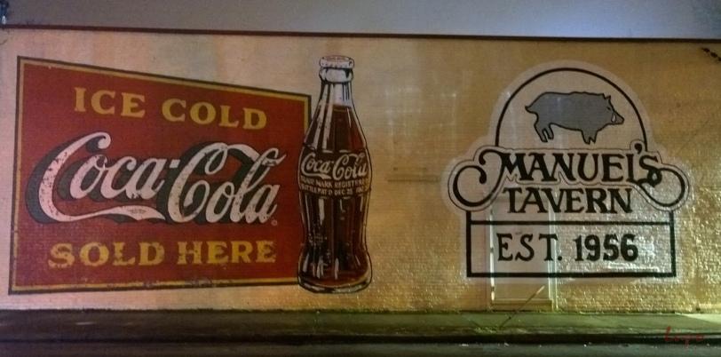 Manuel's Tavern, Atlanta, GA, 3 January 2015