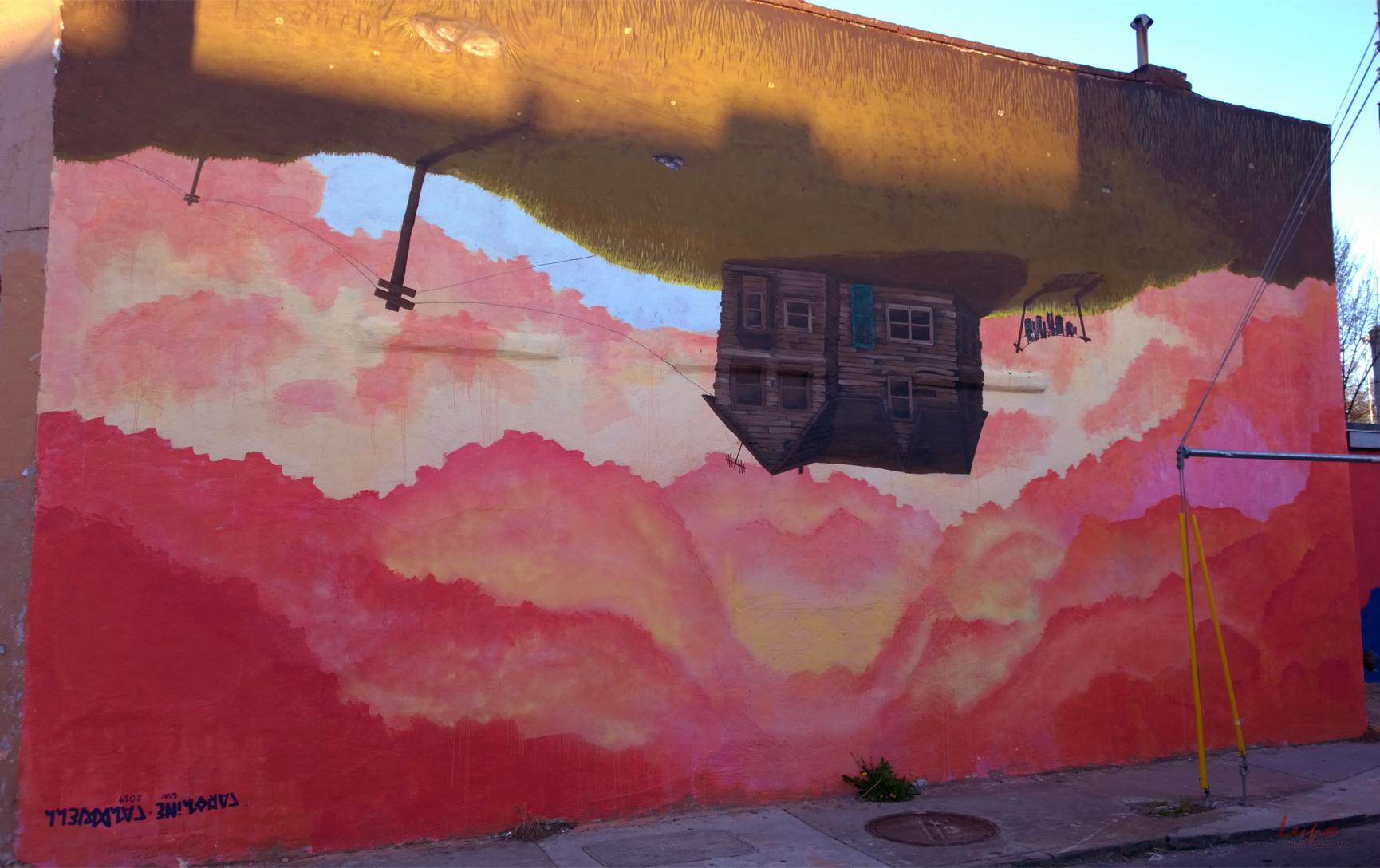 Murals raised by wolves for Atlanta mural artist