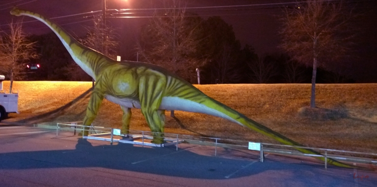 Dinosaur, Satellite Blvd, Norcross, GA, 31 January 2015, #1