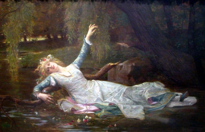 Ophelia, painting by Alexandre Cabanel [Public domain], via Wikimedia Commons.